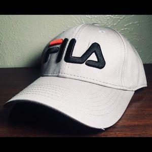 Fila Grey Strapback Hat NEW